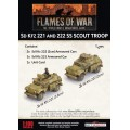 Flames of War - SdKfz 221 and 222 SS Scout Troop 1