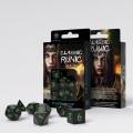 Classic Runic Black & green Dice Set (7) 1