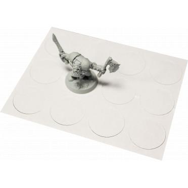 Aimants Adhésifs 32 mm de Diamètre (x12)