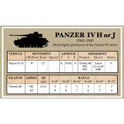 Battlegroup Late German Data Cards