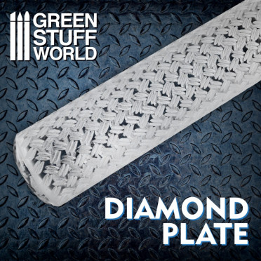 Rolling Pin Diamond Plate - Small