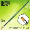 Green Séries : Pinceau Synthétique Plat - 6 1
