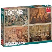 Puzzle Premium Collection – Anton Pieck, Living Room Entertainment 1000 pièces