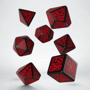 Dwarven Black & red Dice Set (7)