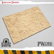 Official Dust 1947 Gaming Mat - Babylon Desert  (9 squares by 12 squares)