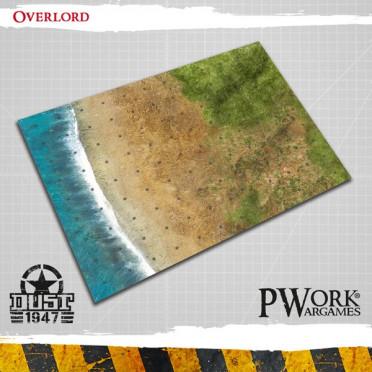 Tapis de jeu officiel Dust 1947 - Overlord  (9 cases par 12 cases) (copie)