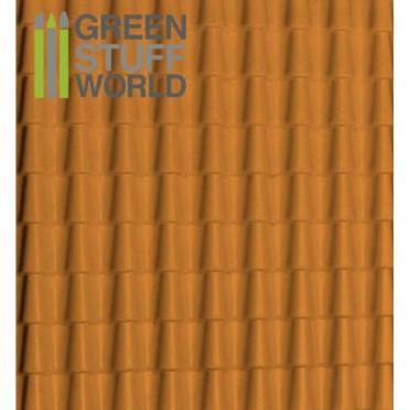 Plasticard - Thread Roof Tilesl Textured Sheet - A4