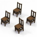 Chaises à Dossier Banister A (x4) 1