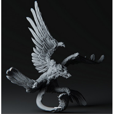 3D Printed Miniatures: Thunder Dragon