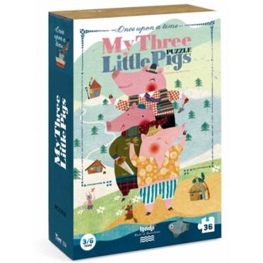 Puzzle - My 3 Little Pigs - 36 Pièces