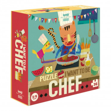 Puzzle - I want to be... Chef - 36 Pièces