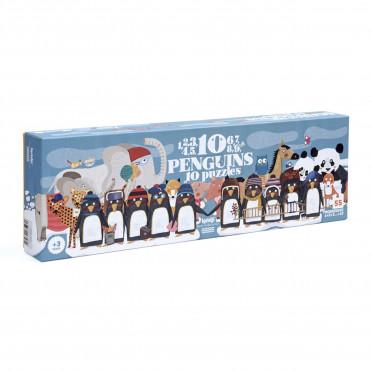 Puzzle - 10 Penguins - 55 Pièces