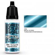 Filtre Métallique - Interférence Turquoise