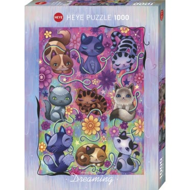 Puzzle - Kitty Cats Dreaming - 1000 Pièces