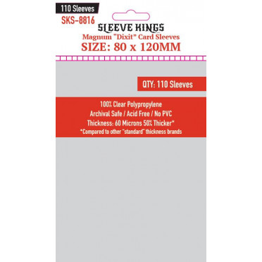 """Sleeve Kings - Magnum """"Dixit"""" Card - 80x120mm - 110p"""