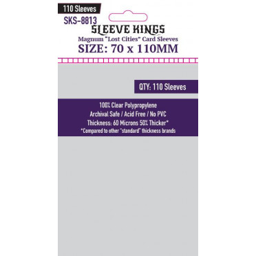 """Sleeve Kings - Magnum """"Lost Cities"""" Card - 70x110mm - 110p"""