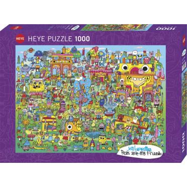 Puzzle - Doodle Village de Jon Burgerman - 1000 Pièces