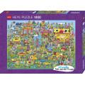 Puzzle - Doodle Village de Jon Burgerman - 1000 Pièces 0