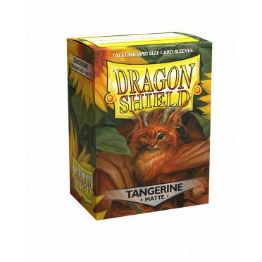 100 Dragon Shield Matte Tangerine