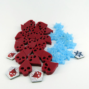 Wound & frostbite Tokens for Dead of Winter