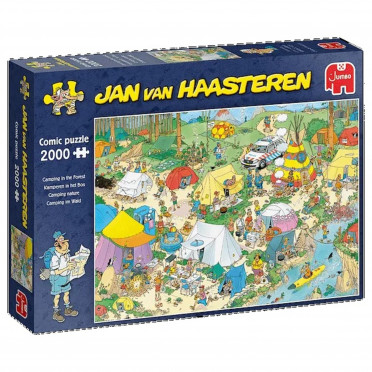 Puzzle - Jan van Haasteren - Camping in the Forest - 2000 pièces