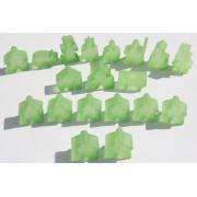 Carcassonne - Set de 19 Meeples- Frozen Vert Clair