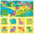 Puzzle 8+1 Dinosaurs 1