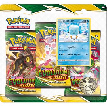 Pokémon EB07 : Evolution Céleste - Pack 3 Boosters Bekaglaçon