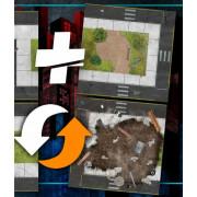 Extension pour tapis modulaire Crisis Protocol et jeux contemporains (housse incluse)