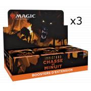 Magic The Gathering - Innistrad : Chasse de Minuit : Lot de 3 Boites de 30 Booster d'extension