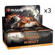 Magic The Gathering - Innistrad : Chasse de Minuit : Lot de 3 Boites de 36 Boosters de Draft