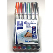 Water Soluble 6-Pack Markers Medium-Tip