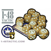 1-48 Tactic - 12 US Aiborne Faction Dice + Exclusive Limited Edition Weapon Card