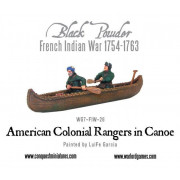 American Colonial Rangers in Canoe