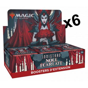 Magic The Gathering : Innistrad : Noce Ecarlate - Lot de 6 Boites de 30 Boosters d'Extension